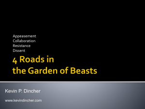 4 Roads in the Garden of Beasts