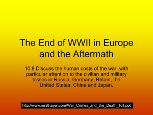 The End of WWII in Europe and the Aftermath