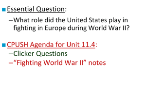 CPUSH Agenda for Unit 11.4