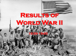 Results of World War II 1939-1945