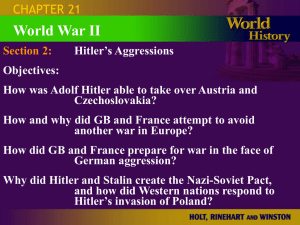 Hitler`s Aggressions