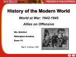 World at War-Allies on Offensive