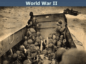 World War II The Allied Offensive North Africa