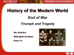 End of War-Triumph and Tragedy