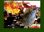 World War II Part 1