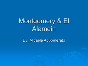 Montgomery & El Alamein - US-History-Twinsburg-Two