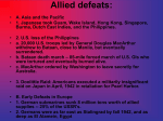 Allied defeats: