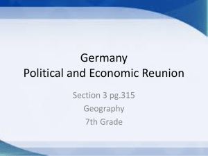 Germany Political and Economic Reunion - 5thgrade