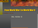 From World War I to World War II