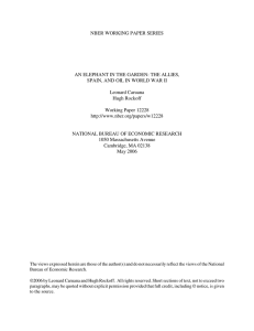 NBER WORKING PAPER SERIES AN ELEPHANT IN THE GARDEN: THE ALLIES,