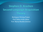Stephen D. Krashen Second Language Acquisition Theory
