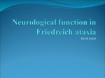 Clinical Research Network in Friedreich ataxia