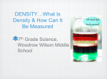 DENSITY…What Is Density & How Can It Be Measured