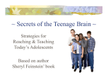 Secrets of the Teenage Brain - Ottawa