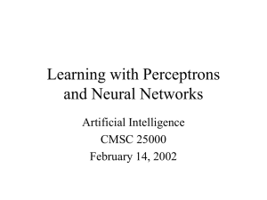 Learning with Perceptrons and Neural Networks