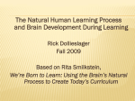 THE NATURAL LEARNING STAGES (COMPRESSED IN 4 …