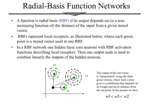 Radial-Basis Function Networks
