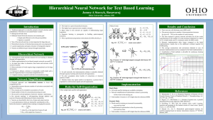 Hierarchical Neural Network for Text Based Learning
