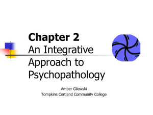 An Integrative Approach to Psychopathology - Home