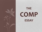THE COMP ESSAY - AP World History | Lauren Faust