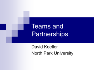 Teams and Partnerships