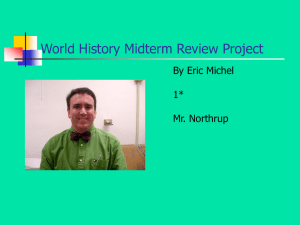 World History Midterm Review Project
