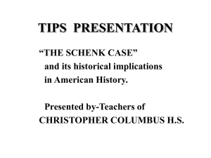 PowerPoint: The Schenk Case and its historical implications
