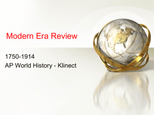 Modern Era Review - Brookwood High School