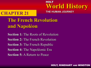 CHAPTER 21: The French Revolution and Napoléon