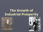 The Growth of Industrial Prosperity The Second Industrial Revolution