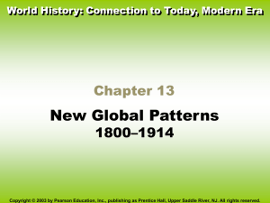 World History Connections to Today