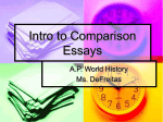 Intro to Comparison Essays
