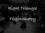 Right Triangle Trigonometry - FIT