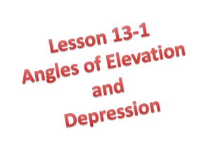 L13-1 notes - angles of elevation and depression - fghs