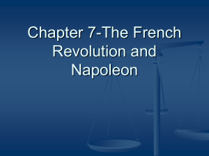 Chapter 7-The French Revolution and Napoleon