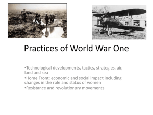 Practices of World War One - Australian International School