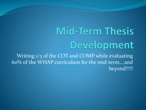 Mid-Term Thesis Development