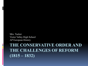 The Conservative Order and the Challenges of Reform (1815