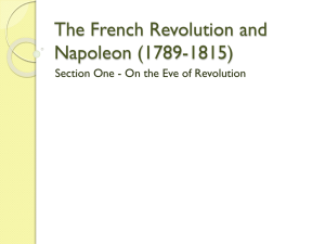 The French Revolution and Napoleon (1789