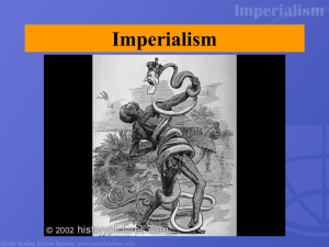 Imperialism PowerPoint - Methacton School District