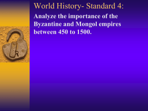 Mongols and Byzantine - Henry County Schools
