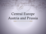 Central Europe-Austria and Prussia