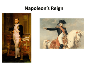 Napoleon`s Reign - Great Valley School District