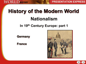 Nationalism in the 19th Century -Pt1