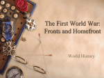 2. WW1 Fronts and Homefront