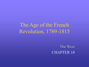 The Age of the French Revolution, 1789-1815