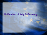 Unification of Italy & Germany