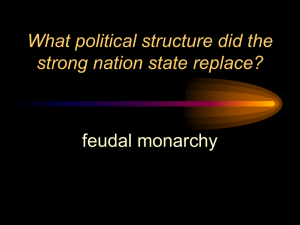 What political structure did the strong nation state replace?