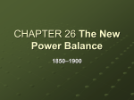 The New Power Balance 1850–1900