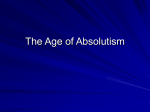 The Age of Absolutism - APEH